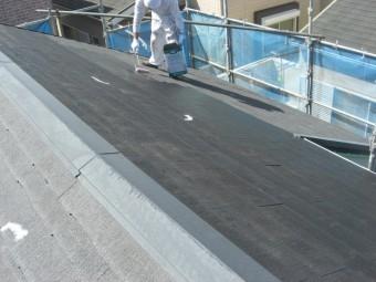貝塚市半田の屋根下塗り