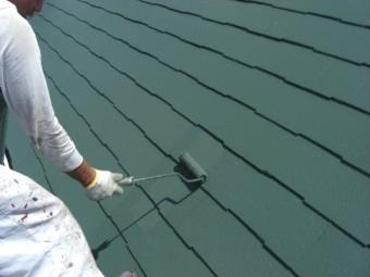 貝塚市半田の屋根上塗り