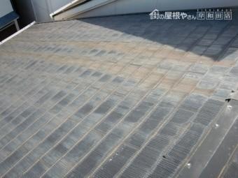 熊取町の屋根が塗装の時期にきています
