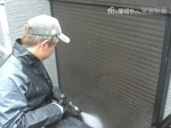 貝塚市の雨戸シャッター洗浄