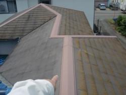 岸和田市の塗装前の屋根