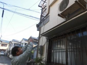 岸和田市吉井町の外壁塗装の現調