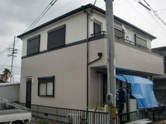 岸和田市の台風被害に遭った家