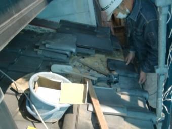 和泉市の下屋の修理状況