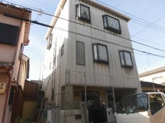 岸和田市紙屋町の外壁・屋根塗装着工