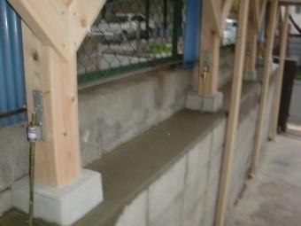 阪南市の劣化したカーポートの柱入替完了