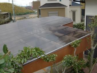 阪南市のカーポートの屋根張替え完了