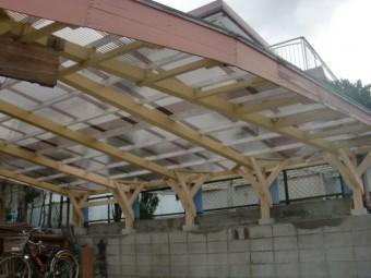 阪南市のカーポートの修理完了