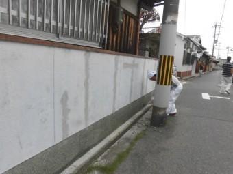 泉北郡忠岡町の塀のクラック補修