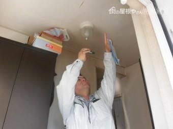岸和田市池尻町の雨漏り調査