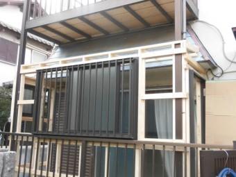 岸和田市土生町の面格子付の窓