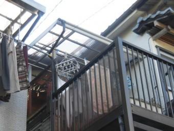 高石市千代田の二階の波板張替え完了