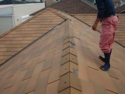 貝塚市の台風被害に遭った屋根