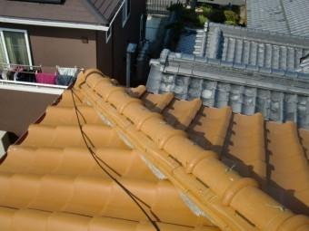 泉南市の被害に遭っていない降り棟も補強