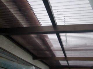 阪南市のテラスの波板張替え後