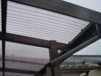 阪南市のテラス波板張替え完了