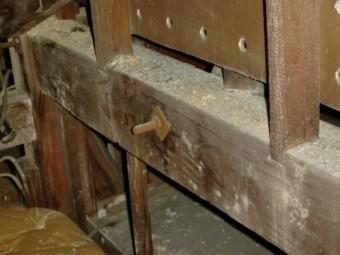 泉北郡忠岡町で屋根裏の筋交いなど調査中