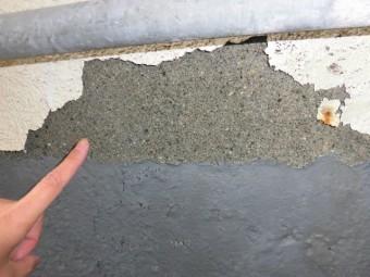 岸和田市藤井町の外壁の塗装めくれ