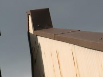 熊取町のパラペットの笠木板金