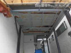 堺市中区のガレージの屋根現況