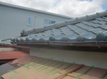 和泉市の台風被害に遭った屋根の修理完了