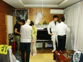 岸和田市小松里町の採光窓設置の打ち合わせ