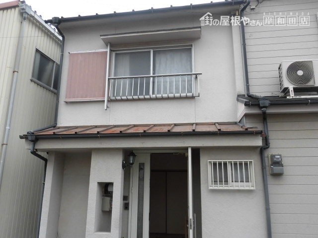 岸和田市の屋根葺き替えと外壁塗装の現調