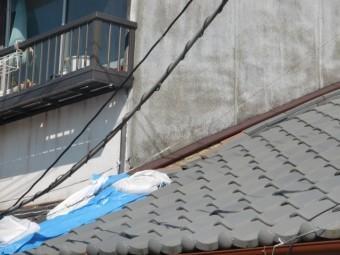 岸和田市ののし瓦のズレ