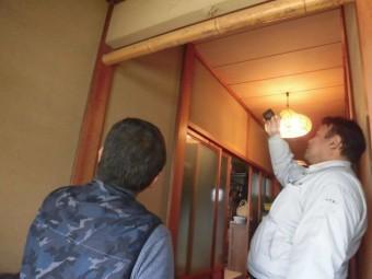 岸和田市土生町の屋根葺き替えの現地調査