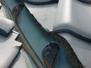 泉南市樽井の谷樋の穴修理後