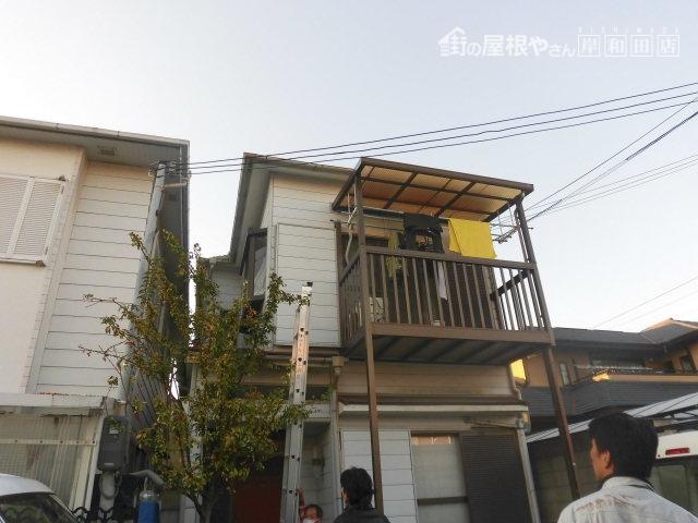 泉大津市の雨漏り現地調査