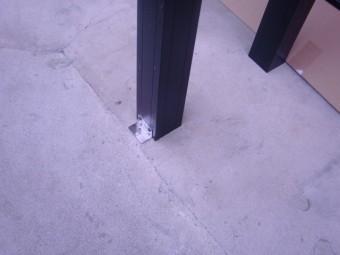 岸和田市西之内町のベースの柱の様子