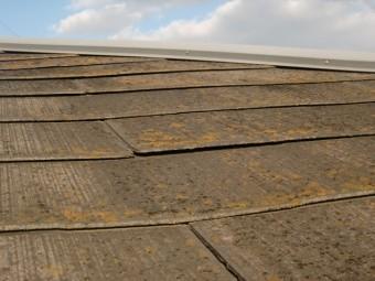 岸和田市紙屋町のスレート屋根の現況