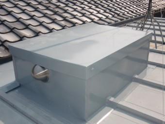 岸和田市内畑町のお風呂場の屋根かさ上げ完了