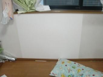 岸和田市西之内町の壁の穴あき補修完了