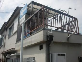 岸和田市の雨漏り現地調査