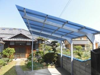 岸和田市尾生町の波板張替え完了