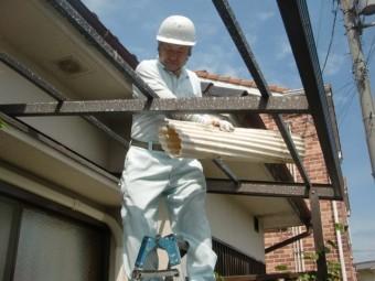 泉北郡忠岡町のテラス屋根撤去