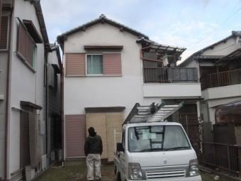 泉佐野市葵町の雨漏り修理