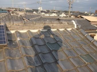 泉佐野市葵町の棟瓦積みなおし完了