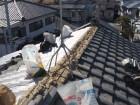岸和田市の棟の瓦解体