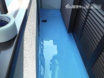 泉大津市のベランダにウレタン樹脂塗布完了