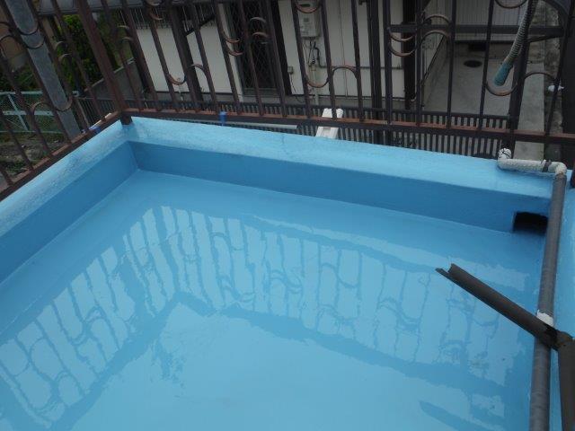 岸和田市下野町のバルコニーにウレタン樹脂塗布
