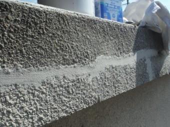 岸和田市包近町の屋根のクラックを樹脂で補修