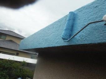 岸和田市包近町の陸屋根の側面にウレタン樹脂塗布