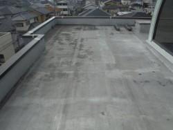 貝塚市の陸屋根現況