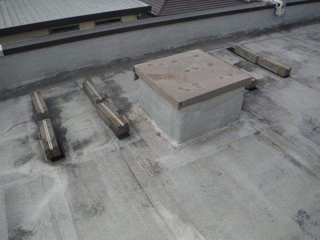 貝塚市の陸屋根の現況