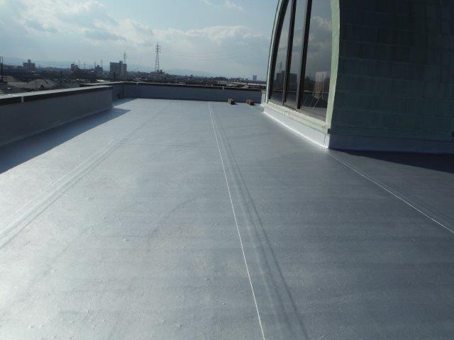 貝塚市の陸屋根トップコート完了