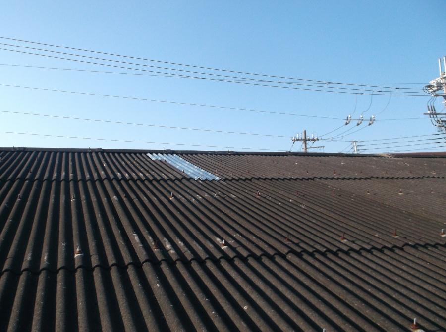 岸和田市の倉庫の雨漏り修理完了
