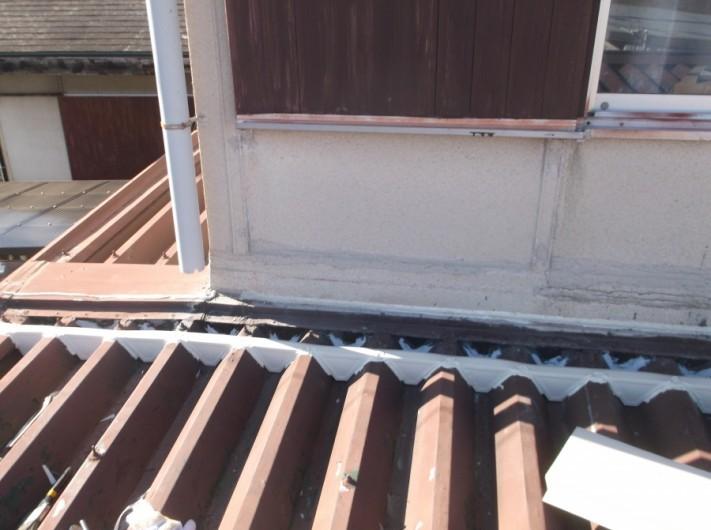泉南郡岬町の屋根の面戸